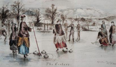 Curling at Eglinton Castle
